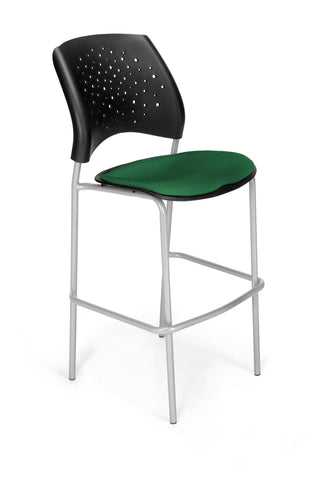 OFM 328S-2221 Stars Cafe Height Chair, Forest Green ; UPC: 845123004814 ; Image 1