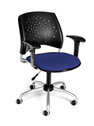 OFM Stars Swivel Chair with Arms, Royal Blue ; UPC: 845123013144 ; Image 1