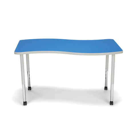 OFM Adapt Series Large Wave Standard Table - 25-33? Height Adjustable Desk with Casters, Blue (WAVE-L-LLC) ; UPC: 845123096147 ; Image 2
