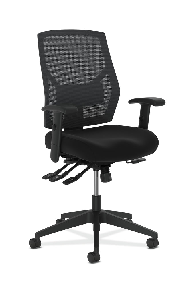 HON Crio High-Back Task Chair -Mesh Back Computer Chair with Asynchronous Control for Office Desk, Black (HVL582) ; UPC: 888206940081 ; Image 1