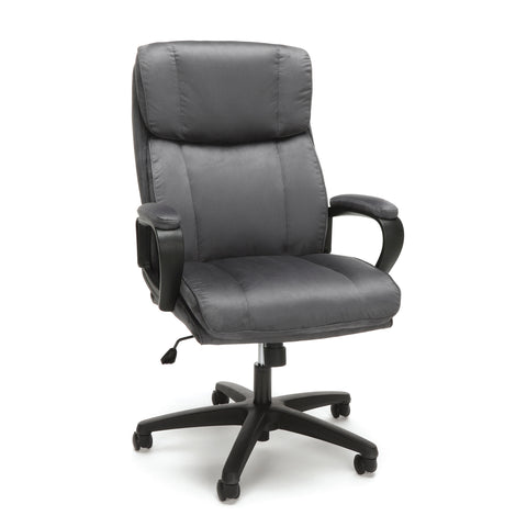 Essentials by OFM ESS-3081 Plush High-Back Microfiber Office Chair, Gray ; UPC: 845123095263 ; Image 1