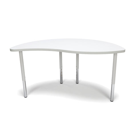 OFM Adapt Series Ying Standard Table - 23-31? Height Adjustable Desk, White (YING-LL) ; UPC: 845123096451 ; Image 3