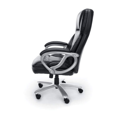 Essentials by OFM ESS-202 Big and Tall Leather Executive Office Chair with Arms, Black/Silver ; UPC: 845123080139 ; Image 5
