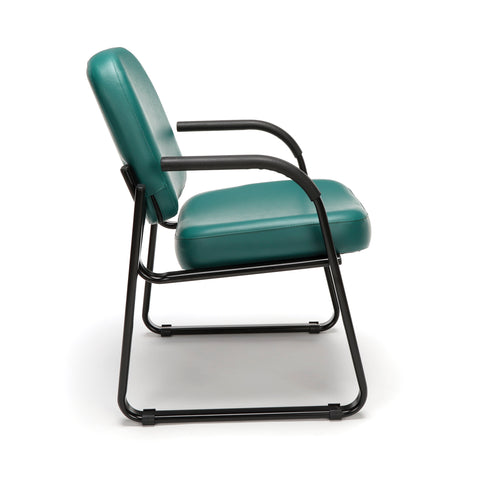 OFM Model 403-VAM Guest and Reception Chair with Arms, Anti-Microbial/Anti-Bacterial Vinyl, Teal ; UPC: 811588014170 ; Image 4