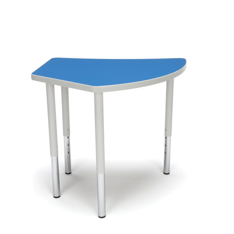 OFM Adapt Series Crescent Standard Table - 23-31? Height Adjustable Desk, Blue (CREST-LL) ; UPC: 845123096505 ; Image 3