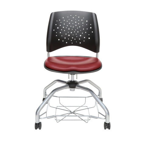 OFM Stars Foresee Series Chair with Removable Vinyl Seat Cushion - Student Chair, Wine (329-VAM) ; UPC: 845123094099 ; Image 2
