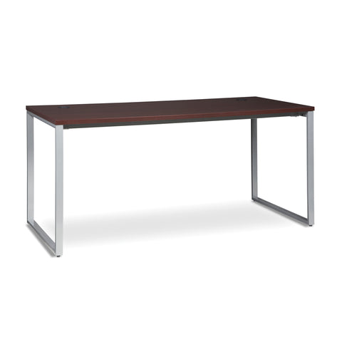 OFM Fulcrum Series 66x30 Desk, Minimalistic Modern Office Desk, Mahogany (CL-D6630-MHG) ; UPC: 845123097175 ; Image 1