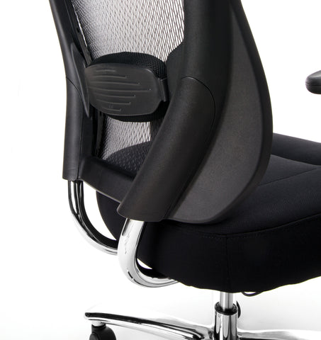 Essentials by OFM ESS-200 Big and Tall Swivel Mesh Office Chair with Arms, Black/Chrome ; UPC: 845123080115 ; Image 8