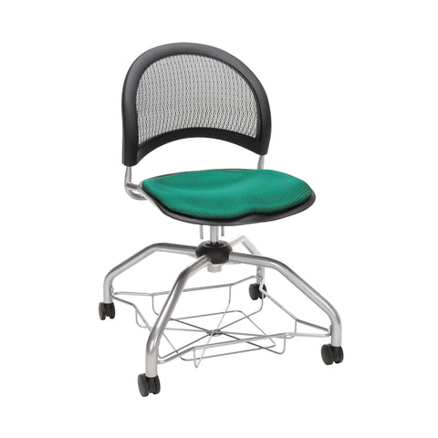 OFM Moon Foresee Series Chair with Removable Fabric Seat Cushion - Student Chair, Shamrock Green (339) ; UPC: 845123094358 ; Image 1