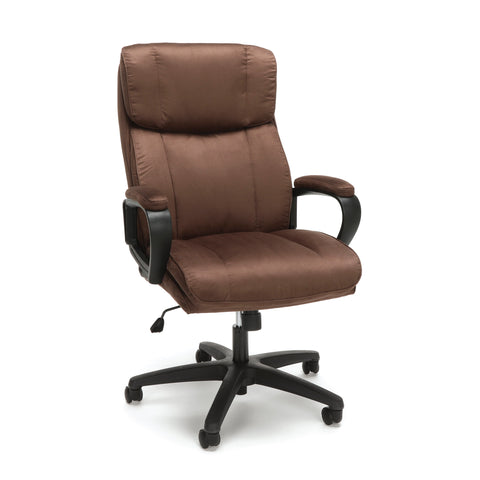 Essentials by OFM ESS-3081 Plush High-Back Microfiber Office Chair, Brown ; UPC: 845123095256 ; Image 1