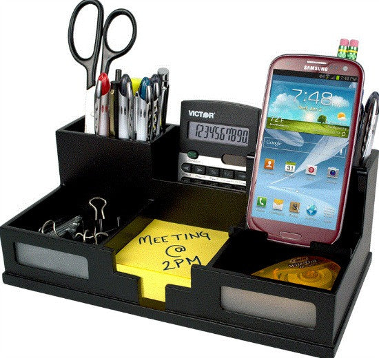 Victor Phone Holder Desk Organizer VCT95255, Black (UPC:014751952556)