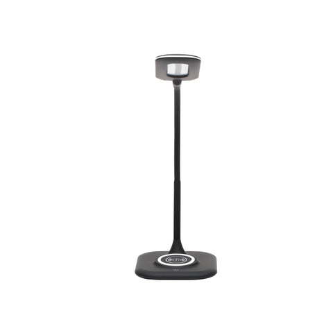 OFM ESS-9004-BLK Essentials LED Desk Lamp with Integrated Wireless Charging Station, Black ; UPC: 192767000628 ; Image 2