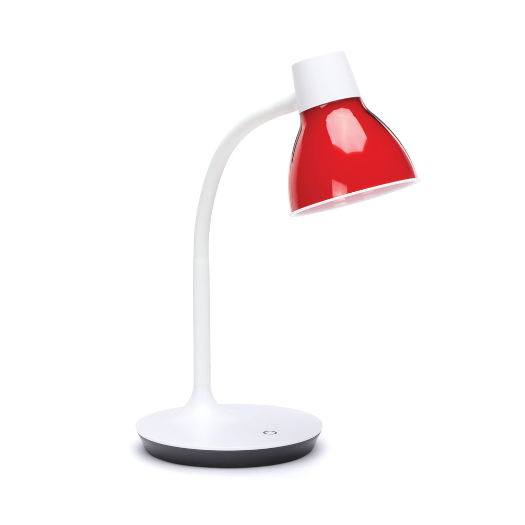 OFM ESS-9000-8PK-RED Essentials LED Desk Lamp with Integrated Touch Control, Red (Pack of 8) ; UPC: 192767000444 ; Image 1