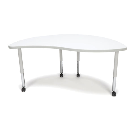 OFM Adapt Series Ying Student Table - 20-28? Height Adjustable Desk with Casters, White (YING-SLC) ; UPC: 845123096819 ; Image 3