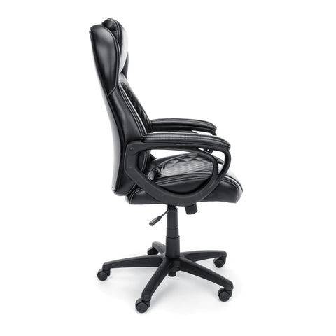Essentials by OFM ESS-6060 High-Back Racing Style Bonded Leather Executive Chair, Black ; UPC: 845123089354 ; Image 4