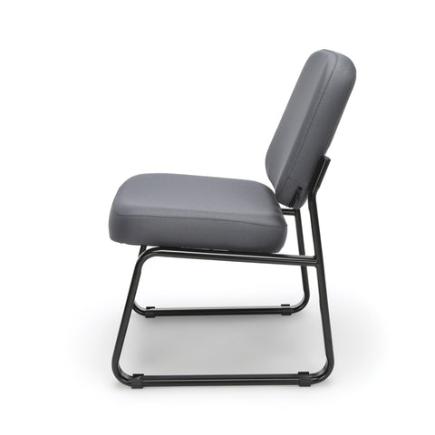 OFM Model 405 Fabric Armless Guest and Reception Chair, Gray ; UPC: 811588014248 ; Image 5