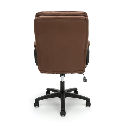 Essentials by OFM ESS-3082 Plush Microfiber Office Chair, Brown ; UPC: 845123095287 ; Image 3