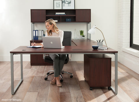 OFM Fulcrum Series 66x30 Desk, Minimalistic Modern Office Desk, Mahogany (CL-D6630-MHG) ; UPC: 845123097175 ; Image 7