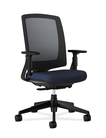HON Lota Mesh Back Office Chair, in Navy (H2281) ; UPC: 881728407858 ; Image 1