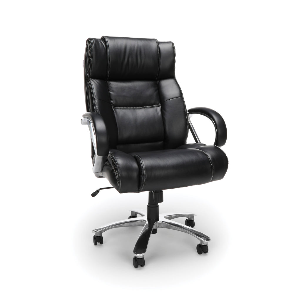 OFM  810-LX Big and Tall Executive High Back Chair, Leather, Black ; UPC: 845123031773 ; Image 1