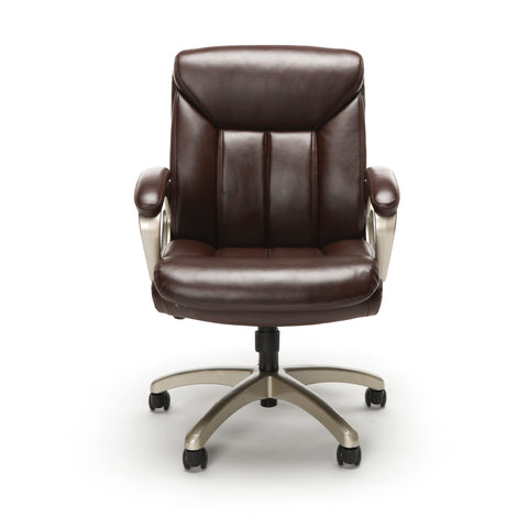 Essentials by OFM ESS-6020 Executive Office Chair, Brown with Champagne Frame ; UPC: 845123093269 ; Image 2