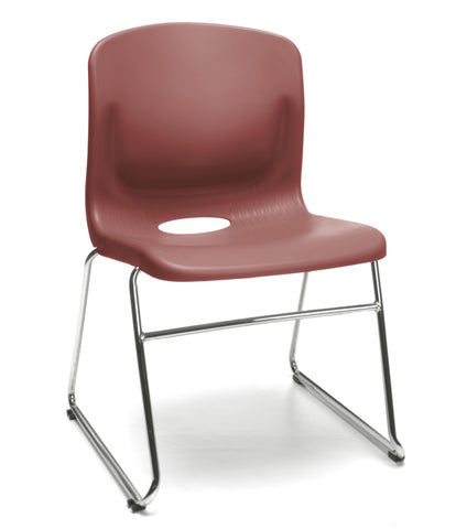 OFM Model 315 Multi-Use Stack Chair, Plastic Seat and Back, Wine ; UPC: 845123034750 ; Image 1
