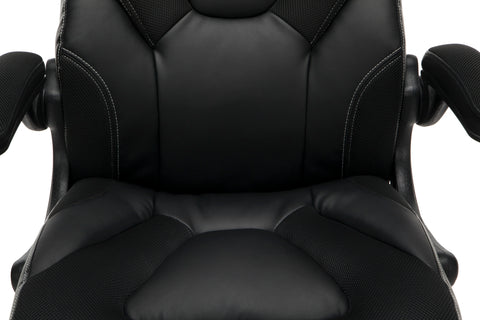 OFM Essentials Collection Racing Style Bonded Leather Gaming Chair, in Black (ESS-3085-BLK) ; UPC: 192767002523 ; Image 8