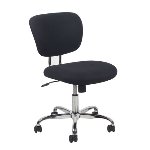 Essentials by OFM ESS-3090 Swivel Armless Task Chair, Black with Chrome Finish ; UPC: 089191013280 ; Image 1