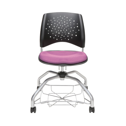OFM Stars Foresee Series Chair with Removable Fabric Seat Cushion - Student Chair, Plum (329) ; UPC: 845123094037 ; Image 2