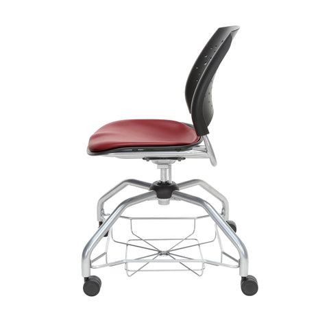 OFM Stars Foresee Series Chair with Removable Vinyl Seat Cushion - Student Chair, Wine (329-VAM) ; UPC: 845123094099 ; Image 5