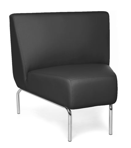 OFM Triumph Series Model 3045 Polyurethane Armless Modular 45 Degree Lounge Chair, Black ; UPC: 845123052600 ; Image 1