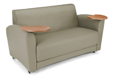 OFM InterPlay Series Model 822 Double Tablet Sofa, Taupe Seat with Bronze Tablet ; UPC: 845123031100 ; Image 1