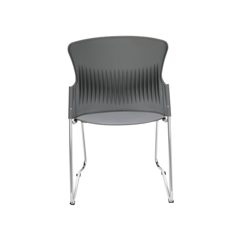 OFM Multi-Use Model 310-P Stack Chair with Plastic Seat and Back, Gray ; UPC: 811588013869 ; Image 3