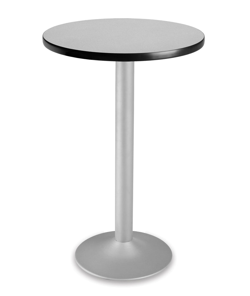 "OFM Model CFT24RD 24"" Round Folding Cafe Height Table with Pedestal Base, Gray Nebula ; UPC: 845123006146 ; Image 1"