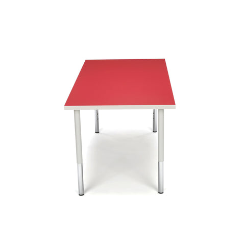 OFM Adapt Series Rectangle Standard Table - 23-31? Height Adjustable Desk, Red (RECT-LL) ; UPC: 845123096048 ; Image 5