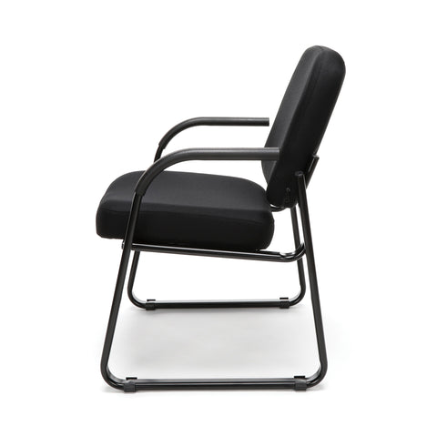 OFM Model 403 Fabric Guest and Reception Chair with Arms and Extra Thick Cushion, Black ; UPC: 811588014163 ; Image 5