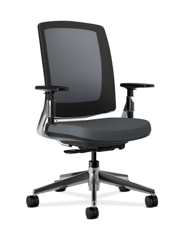 HON Lota Mesh Back Office Chair, in Charcoal (H2283) ; UPC: 881728407940 ; Image 1