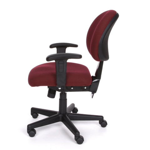 OFM Model 241-AA 24-Hour Ergonomic Multi-Adjustable Upholstered Task Chair with Arms, Burgundy ; UPC: 845123012352 ; Image 3