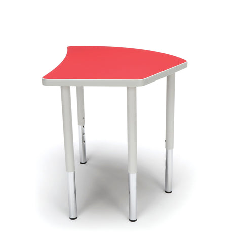 OFM Adapt Series Crescent Standard Table - 23-31? Height Adjustable Desk, Red (CREST-LL) ; UPC: 845123096529 ; Image 5