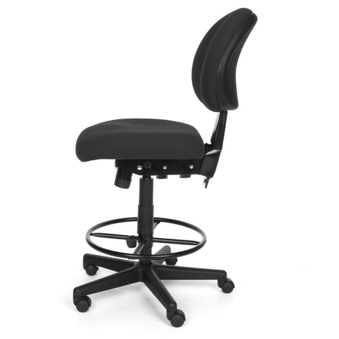 OFM 241-DK 24 Hour Ergonomic Upholstered Armless Task Chair with Drafting Kit, Charcoal ; UPC: 845123012536 ; Image 3