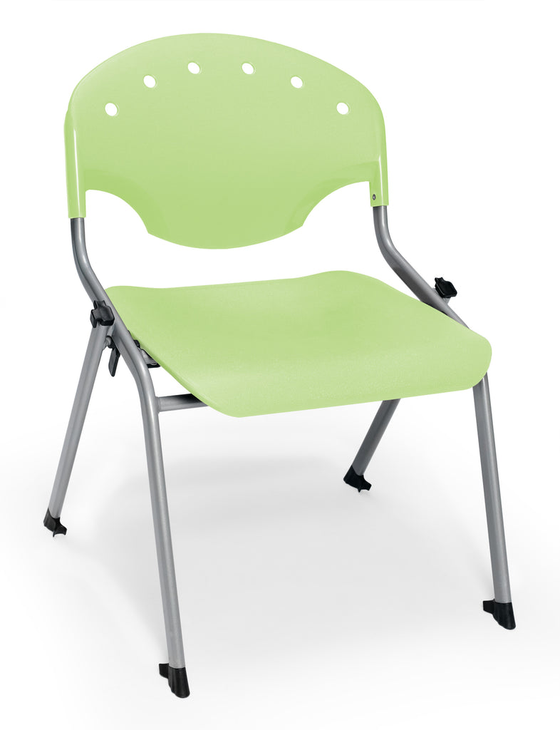 "OFM 305-16-P52 Student Stack Chair, 16"" Height, Lime Green (Pack of 4) ; UPC: 845123021880 ; Image 1"