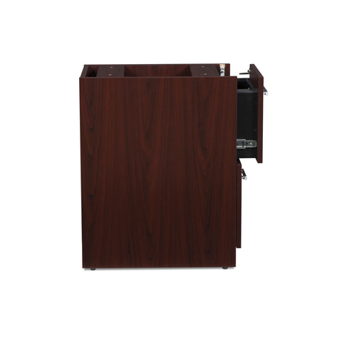 OFM Fulcrum Series Locking Pedestal, 2-Drawer Filing Cabinet, Mahogany (CL-FF-MHG) ; UPC: 845123097496 ; Image 6