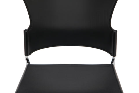 OFM Multi-Use Model 310-P Stack Chair with Plastic Seat and Back, Black ; UPC: 811588013876 ; Image 8