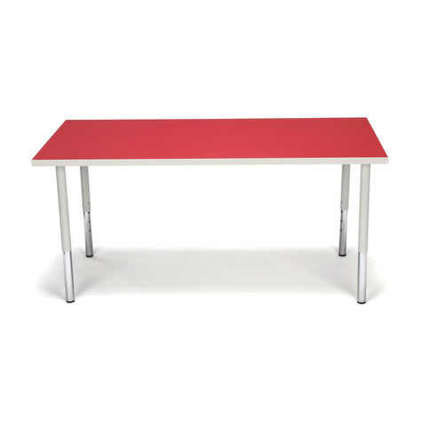 OFM Adapt Series Rectangle Standard Table - 23-31? Height Adjustable Desk, Red (RECT-LL) ; UPC: 845123096048 ; Image 2