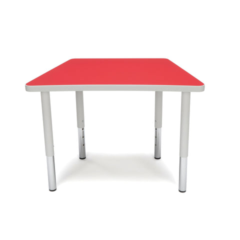 OFM Adapt Series Trapezoid Student Table - 18-26? Height Adjustable Desk, Red (TRAP-SL) ; UPC: 845123096369 ; Image 2