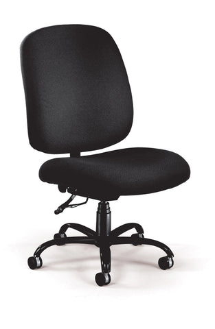 OFM Model 700 Big and Tall Fabric Mid-Back Armless Swivel Task Chair, Black ; UPC: 811588015382 ; Image 1