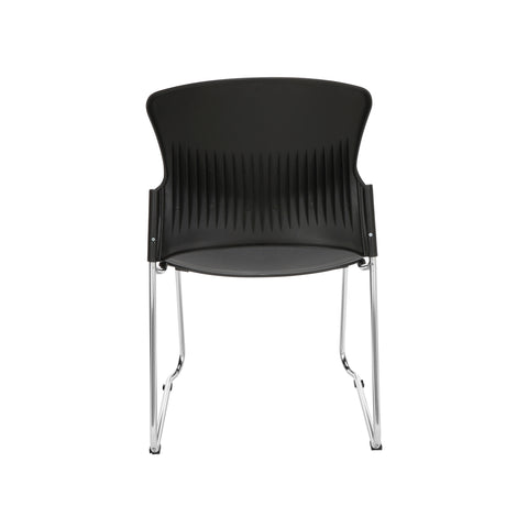 OFM Multi-Use Model 310-P Stack Chair with Plastic Seat and Back, Black ; UPC: 811588013876 ; Image 3