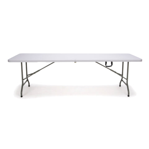 Essentials by OFM ESS-5096F 8' Blow Molded Center-Folding Utility Table, White ; UPC: 845123089231 ; Image 2