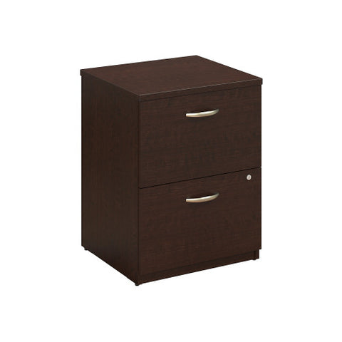 Bush Series C Elite 24W 2 Drawer Pedestal Assembled, Mocha Cherry WC12902SU ; UPC: 042976496944 ; Image 1