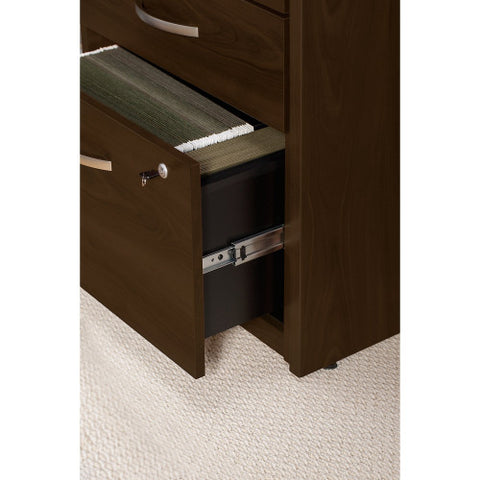 Bush Series C Elite 24W 2 Drawer Pedestal Assembled, Mocha Cherry WC12902SU ; UPC: 042976496944 ; Image 4